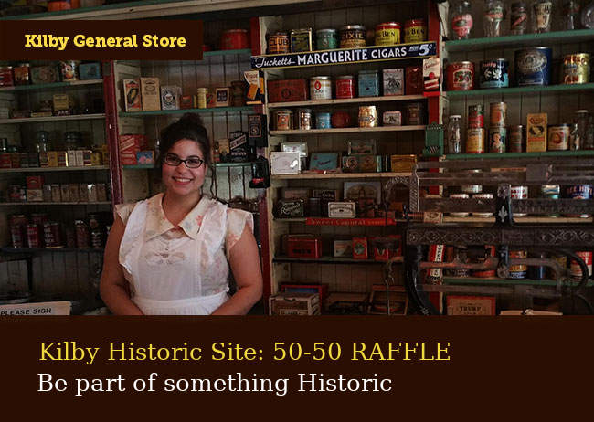 Reconnect with the Past: Kilby 50/50 Raffle 2021!